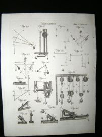Science & Tech C1790 Antique Print. Mechanics 284